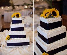 Wedding cake - sunflowers