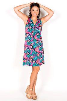 Tia Sleeveless V Neck Dress
