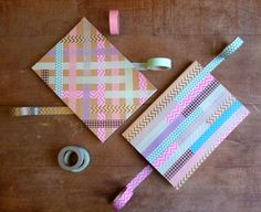 Create your own unique notebooks by decorating them with Washi Tape. Try different kinds of patterns to find your own style.