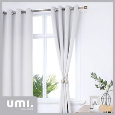 Essentials Eyelet Blackout Curtains Super Soft Thermal Insulated Decorative Window Curtains for Window 66 x 54 Inch Silver Grey 2 Panels Blackout Curtains, Window Curtains, Essentials, Windows, Decoration, Home Decor, Decor, Window, Decorating