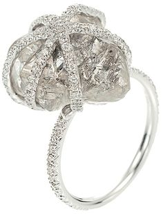 Beautiful uncut diamond ring