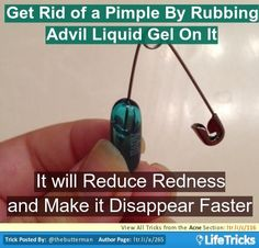 Acne - Get Rid of a Pimple with Advil Liquid Gel