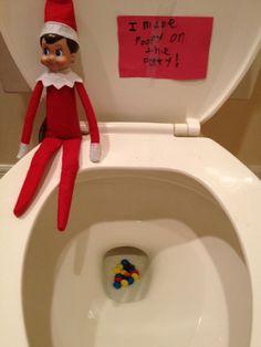 Elf on the Shelf Ideas -- Sweet Flushes