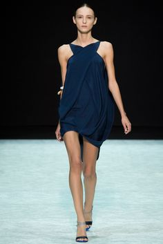 Spring 2015 Ready-to-Wear - Angelos Bratis showing in Teatro Armani during Milan Fashion Week