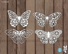 Printable PDF and SVG papercut template 4 Butterflies , instant download. SVG Bundle! 4 designs included! :) For personal and commercial use. - You are purchasing commercial+personal USE of this design. - This design is for hand and machine cutting as it includes both SVG and PDF files. This item is a digital file, please note, no physical item will be send. - After purchasing a digital file, you'll see a View your files link which goes to the Downloads page. Here, you can download all the…