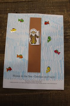 "Sample craft for 3s-5s, Week 3, ""Moses in the Sea"""
