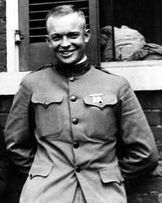 Future president Dwight Eisenhower in World War One