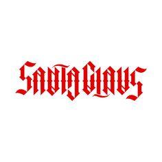 """Santa Claus"", rotational ambigram by unterart ambigram design, via Flickr"
