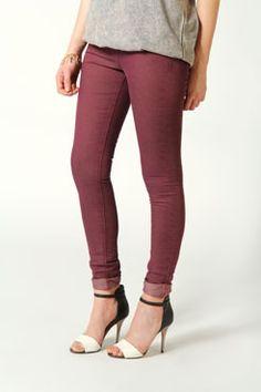 Trixibelle Turn Up Skinny Fit Jeans at boohoo.com