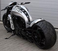 Monza Harley-Davidson V-Rod Motorcycle Bobbers, Vrod Custom, Bmw 1000rr, Vrod Harley, Harley Gear, Cool Motorcycles, Triumph Motorcycles, Hot Bikes, Motorcycle Bike