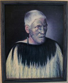 Wi Te Manewha oil on canvas - Māori Portraits by Gottfried Lindauer