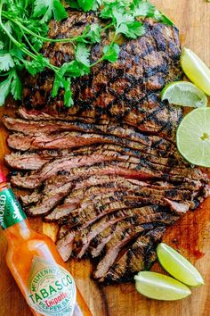 Go-to flank steak recipe! The marinade is so easy with just a few ingredients. This chipotle flank steak has incredible flavor and the SECRET ingredient is