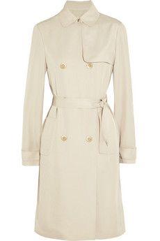 Vanessa Bruno Alistair twill trench coat | NET-A-PORTER