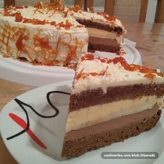Kuhinja i Recepti: Kanadska torta Torte Recepti, Kolaci I Torte, Cake Recipes, Dessert Recipes, Torte Cake, Desserts To Make, Cake Cookies, No Bake Cake, Vanilla Cake