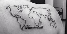 New wanderlust tattoo <3 #tattoo