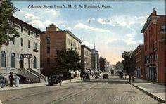 Atlantic Street From Y. A Stamford Connecticut Stamford Connecticut, Fairfield County, Family History, East Coast, New England, To Go, Street View, United States, Live
