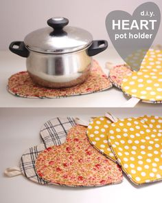 DIY Heart Pot Holders // THE MERRY & MIRTH