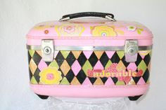 Holiday Special- Free Shipping Upcycled Vintage Carry On Train Case Pink Floral Feminine OOAK. $65.00, via Etsy. Upcycled Crafts, Upcycled Vintage, Vintage Suitcases, Kids Suitcases, Train Case, Beaded Trim, Makeup Case, Diamond Shapes, Vintage Antiques