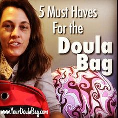 After doula training is done, the doula bag seems to be the next project to tackle. Your list of items will likely evolve as you get more experience. Many dou Midwife Assistant, Becoming A Doula, Doula Training, Doula Business, Stages Of Labor, High Risk Pregnancy, Doula Services, Medical Careers, Birth Doula