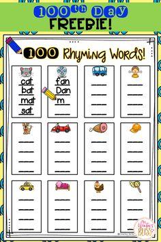 FREE 100th Day of School Activity & Teaching Ideas