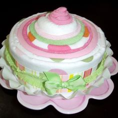 Sweet Treats Jumbo Cupcake  Pink/Green by gigglebugbaby1 on Etsy, $45.00