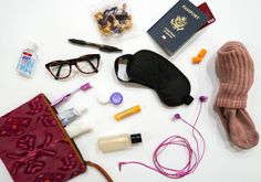 If you want to survive a long flight, then you need to create your own travel comfort pack to put in your carry-on bag! Here's how to make a comfort pack.