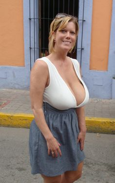 Big boobs on mature women