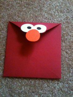 Elmo envelope...so cute for invite!!!