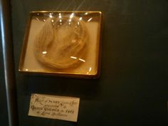 Mary Queen of Scots lock of hair