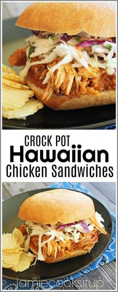 I have a wonderfully easy and fabulous tasting crock pot recipe for you all today! These sandwiches are seriously super delicious. The chicken is slow cooked in a wonderful sweet and sour, Hawaiian… dinner recipes Crock Pot Hawaiian Chicken Sandwiches Slow Cooker Recipes, Cooking Recipes, Healthy Recipes, Eat Healthy, Slow Cooker Summer Recipes, Summer Chicken Recipes, Crockpot Meals, Crock Pot Dinners, Best Lunch Recipes