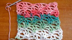 This Free Crochet pattern teaches how to make this lacy stitch that makes a great set of curtains.