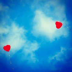 My wedding  photography. By NikitaDB. Love heart ♥ balloon
