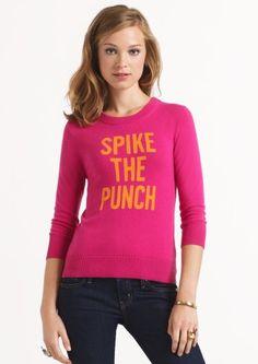 Pink and orange Kate Spade sweater.
