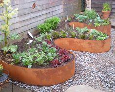 artistic landscape design industrial style floewr pots