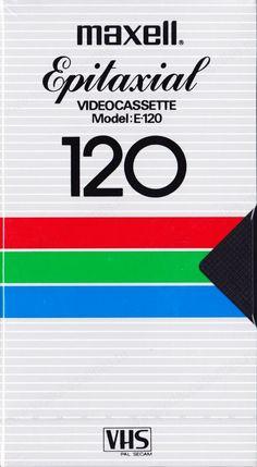 Maxell Graphic Design Layouts, Retro Design, Logo Design, Vhs Cassette, Retro Waves, Retro Futurism, Typography Fonts, Vintage Prints, Branding