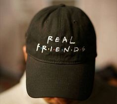 Real Friends Black Baseball Dad Hat - Freshtops Marketplace