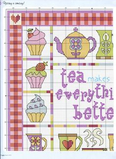 TEA cross stitch pattern.  Gallery.ru / Фото #42 - ФР_04(49)_2013 г. - f-morgan