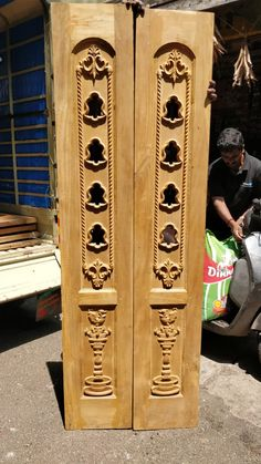 Beautiful CNC carved MDF panels to add a Unique Touch to Your Projects Wooden Window Design, Front Door Design Wood, Double Door Design, Living Room Partition Design, Room Partition Designs, Pooja Room Door Design, Door Design Interior, Single Main Door Designs, Latest Door Designs