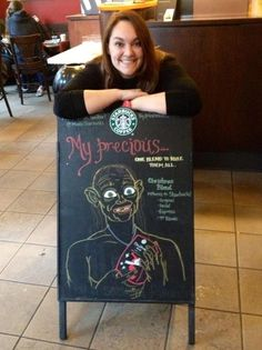 Meet The Barista Turning Starbucks Signs Into An Artform