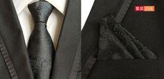 Necktie. (1pieces/lot) 100% Silk tie set Men's Pocket Square Set Ties For Men Slim Necktie