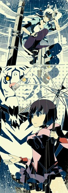 Zaregoto style Cat and Tiger