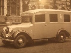 A 1938 Austin 18hp London County Council Ambulance which was based on the long wheelbase 18hp New Windsor/Iver chassis as EHA628; Austin supplied the running chassis with forward bodywork to the coachbuilders.