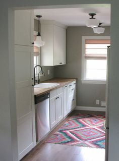My Ikea Kitchen Remodel 9′ x 10′ galley kitchen reno with ikea cabinets, cost: ~$2,600