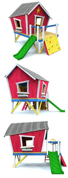 Picasso's Playhouse Plan. Download the plan and start building this design in your backyard today!