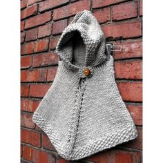 Alpaca Poncho Knitting Pattern : ALPACA WOOL Baby poncho with hood Hand knit in by ...