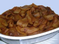 Hot Baked Cinnamon Apples - tried this, pretty simple to make and it works as a side dish (like at Cracker Barrel)