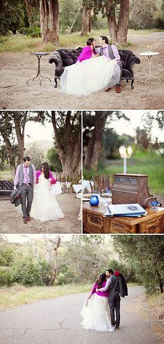 Vintage furniture rentals for weddings . . . love!