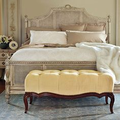 Beauvier French Cane Bed - Frontgate