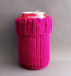 2 in 1 Soda Beer Can Water Bottle Cozy Magenta ** Click image for more details.