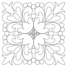 The kiev block 001 digital pattern was designed by Kim Diamond specifically for Statler Stitchers, Intelliquilters, ABM Innova, HandiQuilters and CompuQuilter m Quilting Stencils, Stencil Patterns, Mosaic Patterns, Painting Patterns, Pattern Art, Quilting Designs, Quilt Patterns, Mandala Painting, Dot Painting